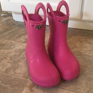 CROC rainboots size 2 perfect condition